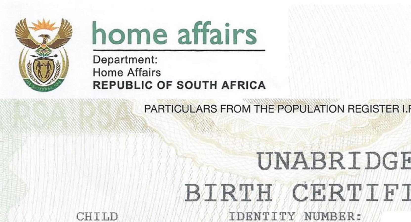 How to get a south african unabridged birth certificate quickly unabridged birth certificate xflitez Choice Image